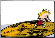 Calvin In Quarter-Inch Form