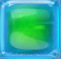Green in Blue Jelly cube