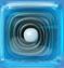 Liquorice Swirl in Blue Jelly cube