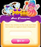 Boss treasures message