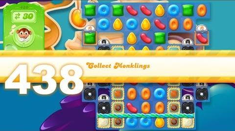 Candy Crush Jelly Saga Level 438 4 monklings (No boosters)