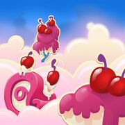 Cherry Frosted Clouds background