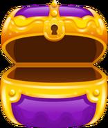 Treasure chest purple opened