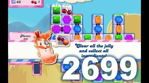 Candy Crush Saga Level 2699 (Super hard level, 3 stars, 2 Switch boosters used)-0