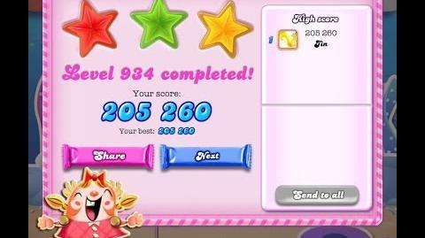 Candy Crush Saga Level 934 ★★★ NO BOOSTER