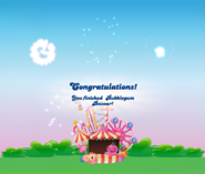 Bubblegum Bazaar completed congratulations screen