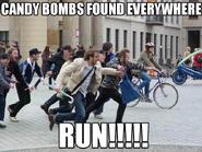 Candy bomb meme