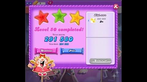 Candy Crush Saga Dreamworld Level 50 ★★★ 3 Stars