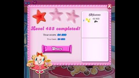Candy Crush Saga Level 485 ★ NO BOOSTER
