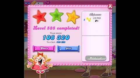 Candy Crush Saga Level 535 ★★★ NO BOOSTER