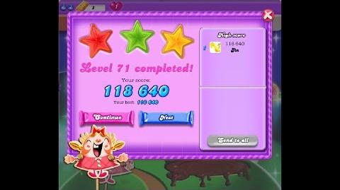 Candy Crush Saga Dreamworld Level 71 ★★★