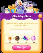 Birthday Bash message