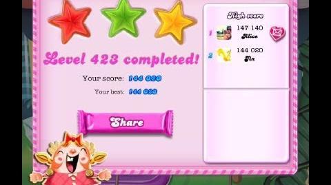 Candy Crush Saga Level 423 ★★★