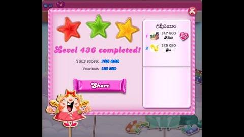 Candy Crush Saga Level 436 ★★★ NO BOOSTER