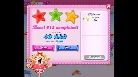 Candy Crush Saga Level 612 ★★★ NO BOOSTER