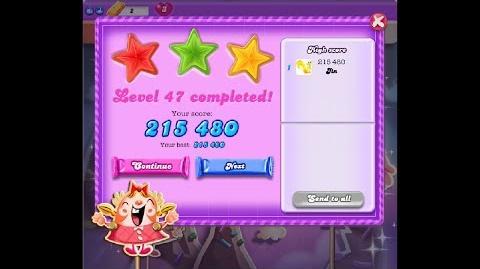 Candy Crush Saga Dreamworld Level 47 ★★★ 3 Stars