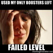 Failed level