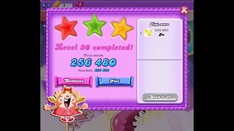 Candy Crush Saga Dreamworld Level 30 ★★★ 3 Stars