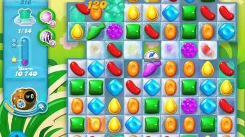 Candy Crush Soda Saga Level 316 (nerfed, 3 Stars)