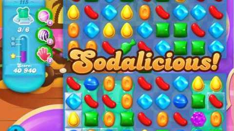 Candy Crush Soda Saga Level 115 (11th version, 3 Stars)