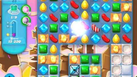 Candy Crush Soda Saga Level 68 (2nd nerfed, 3 Stars)