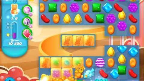 Candy Crush Soda Saga Level 95 (nerfed, 3 Stars)