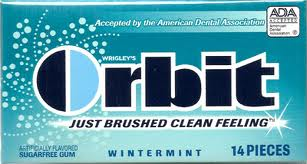 Orbit fresh mint gum
