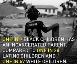 1 in 9 black children has an incarcerated parent