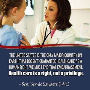 Bernie Sanders on US healthcare versus world
