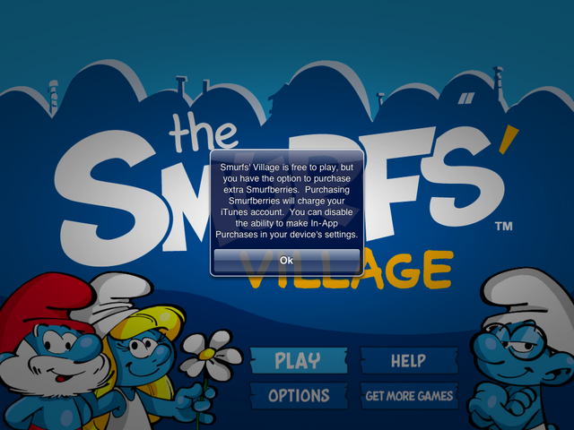 File:Smurf's Village warning screen shot.png