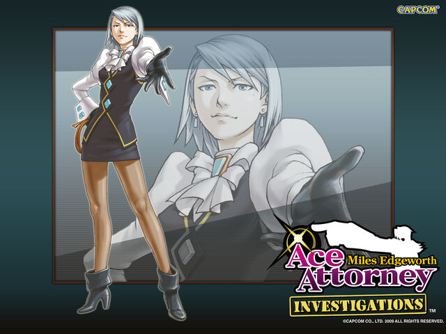 File:Ace Attorney Investigations Miles Edgeworth wallpaper - Franziska von Karma.jpg