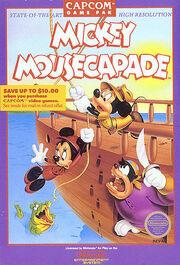 Mickey Mousecapade NES NA box art