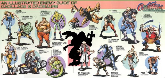 File:Cadillacs and Dinosaurs (Capcom 1993 Arcade Game) - Enemies Guide.jpg