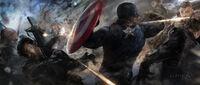Captain America Battle Concept Art