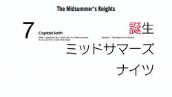 Episode 7 - Midsummer Knights - Title Slate