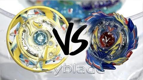 BATTLE Maximum Garuda .8F.Fl VS God Valkyrie .6V.Rb - Beyblade Burst God Evolution!