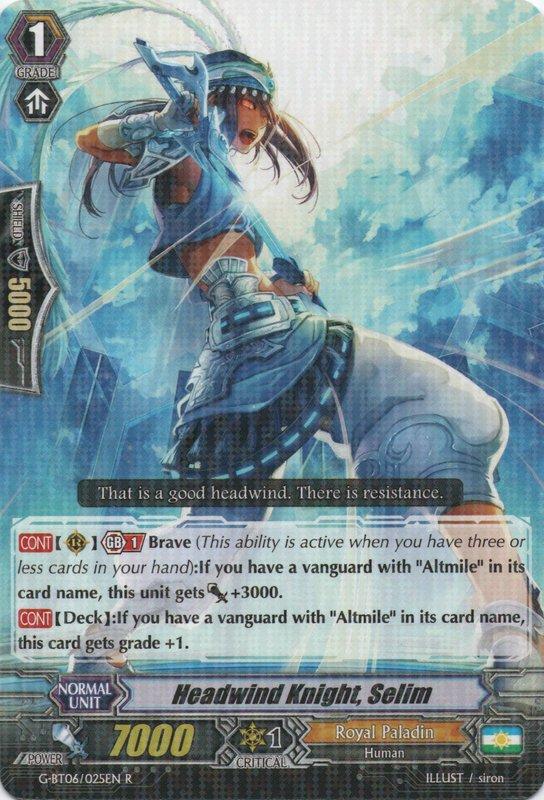 Selim R G-BT06: Transcension of Blade and B G-BT06//025EN 1x Headwind Knight