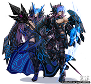 Arduous Battle Knight Claudas and Bloodstained Battle Knight Dorint Design