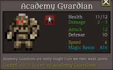 Academy guardian suicide
