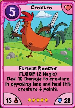Furious rooster