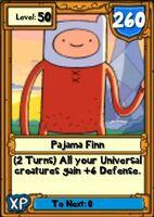 Super Pajama Finn Hero Card