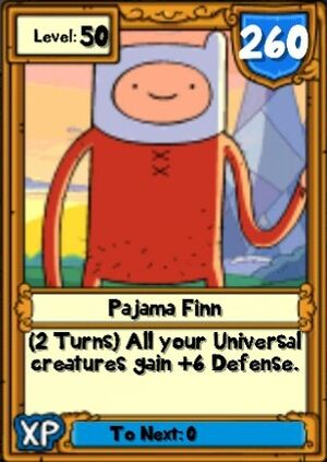 Super Pajama Finn Hero Card