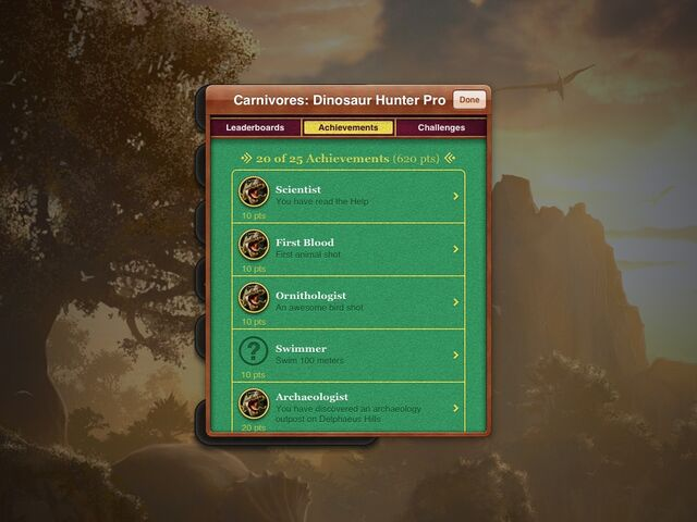 File:Carnivores Dinosaur Hunter HD achievements.jpg
