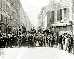 Street barricade koningstad