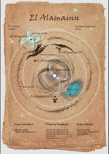 Onus star systems map - El Alamainn