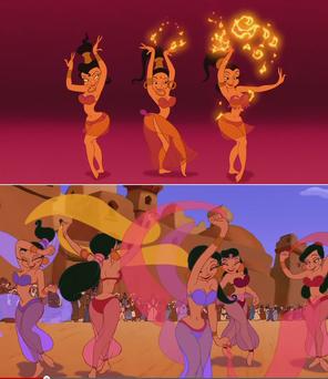 Harem girls genie