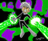 Danny Phantom with Background by Spookygirl300