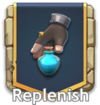 Replenish button