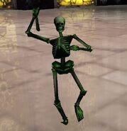 Evolution Skateboarding Green Skeleton