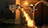 Alucard avoids the flames of a gargoyle tif jpgcopy